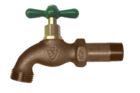 """The Arrowhead Brass 201LF standard hose bib with shank series has a ½"""" Male Iron Pipe (MIP) thread connection with Shank."""