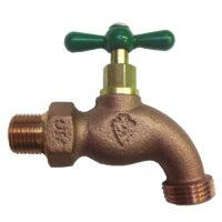 """The Arrowhead Brass 301LF hose bib series is made from heavy-duty, lead-free bronze and has a ½"""" Male Iron Pipe (MIP) thread connection."""