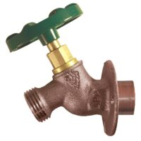 """The Arrowhead Brass 355LF solid flange sillcock series has a ¾"""" copper sweat connection."""