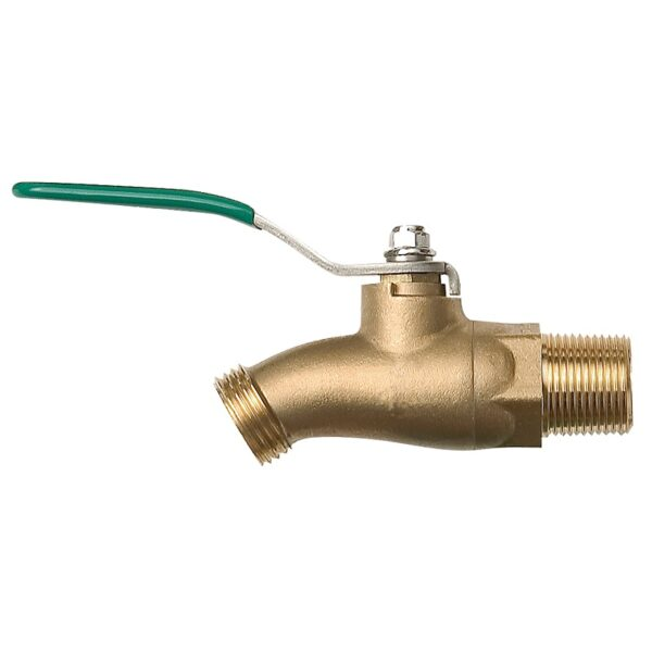 The Arrowhead Brass 351BVLF ball valve hose bib is made from high-quality lead-free brass and feature bi-directional operation.