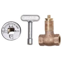 Arrowhead Brass 258 straight log lighter valve, kits, and accessories are made of high-quality bronze construction.