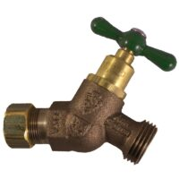 """The Arrowhead Brass Arrow-Breaker® 264CCLF no-kink hose bib has a ½"""" compression connection with built-in anti-siphon vacuum breaker technology."""