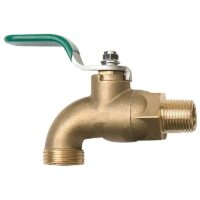 The Arrowhead Brass 301BVLF ball valve hose bib is made from high-quality lead-free brass and feature bi-directional operation.