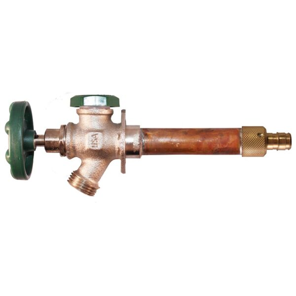 """The Arrowhead Brass 422LF series anti-siphon frost-proof hydrants have a ½"""" Wirsbo inlet."""