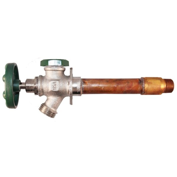"""The Arrowhead Brass 426LF series anti-siphon frost-proof hydrants have a ½"""" MIP and ½"""" copper sweat inlet."""