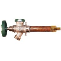 """The Arrowhead Brass 429LF series anti-siphon frost-proof hydrants have a ½"""" PEX inlet."""