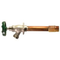"""The Arrowhead Brass 455LF series standard frost-proof hydrants have a ½"""" and ¾"""" MIP inlet."""