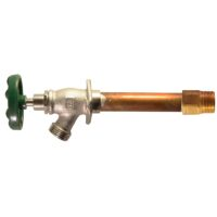 """The Arrowhead Brass 458LF series standard frost-proof hydrants have a ¾"""" MIP and ¾"""" copper sweat inlet."""