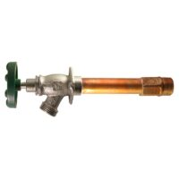 """The Arrowhead Brass 465LF series Arrow-Breaker® frost-proof hydrants have a ½"""" and ¾"""" MIP inlet."""