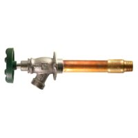 """The Arrowhead Brass 466LF series Arrow-Breaker® frost-proof hydrants have a ½"""" MIP and ½"""" copper sweat inlet."""