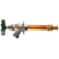"""The Arrowhead Brass 467LF Arrow-Breaker® frost-proof hydrants have a ¾"""" PEX inlet."""