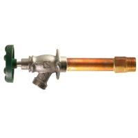 """The Arrowhead Brass 468LF series Arrow-Breaker® frost-proof hydrants have a ¾"""" MIP and ¾"""" copper sweat inlet."""