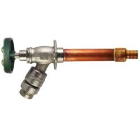 "The Arrowhead Brass 487LF self-draining anti-siphon frost-proof hydrants have a ¾"" PEX inlet."