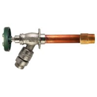 "The Arrowhead Brass 488LF series self-draining anti-siphon frost-proof hydrants have a ¾"" MIP and ¾"" copper sweat inlet."