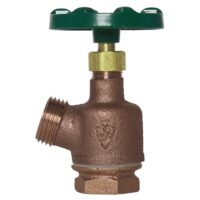 "The Arrowhead Brass 980LF garden valve has a 1"" FIP inlet connection and an inverted nose."