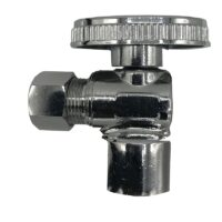 The Arrowhead Brass AS50C37C angle supply stop valves have self-lubricating Teflon seals and a double O-ring for safety.