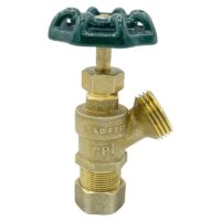 The Arrowhead Brass BD50C boiler drains are made from high-quality lead-free brass and are for use in low-pressure potable water systems.