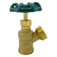 """Arrowhead Brass BD50F boiler drains are made from high-quality lead-free brass and are for use in low-pressure potable water systems. The BD50F has a ½"""" female iron pipe (FIP) connection."""