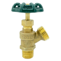 """Arrowhead Brass BD50M boiler drains are made from high-quality lead-free brass and are for use in low-pressure potable water systems. The BD50M has a ½"""" male iron pipe (MIP) connection."""