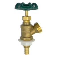 """Arrowhead Brass BD50X boiler drains are made from high-quality lead-free brass and are for use in low-pressure potable water systems. The BD50X has a ½"""" PEX connection."""