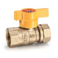 "The Arrowhead Brass GB75F AGA gas ball valves have a ¾"" female iron pipe (FIP) x ¾"" female iron pipe (FIP) connection."