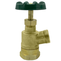 """The Arrowhead Brass GV100F-V garden valve is lead-free. The GV100F-V has a 1"""" female iron pipe (FIP) inlet and inverted nose design."""