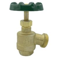 """The Arrowhead Brass GV50F garden valve is lead-free. The GV50F has a ½"""" female iron pipe (FIP) inlet and a bent nose design."""