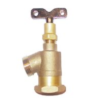 """The Arrowhead Brass GV75F-LK garden valve is lead-free. The GV75F-LK has a ¾"""" female iron pipe (FIP) inlet, bent nose design, and loose key."""