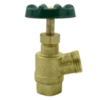 """The Arrowhead Brass GV75F-V garden valve is lead-free. The GV75F-V has a ¾"""" female iron pipe (FIP) inlet and inverted nose design."""