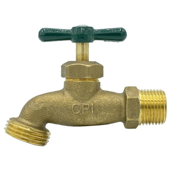 """The Arrowhead Brass HB75M standard hose bib is made from heavy patterned lead-free brass and is available in ¾"""" male iron pipe (MIP)."""