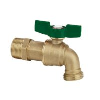 """The Arrowhead Brass HB50M-QT standard hose bib is made from heavy patterned lead-free brass and is available in ½"""" male iron pipe (MIP)."""