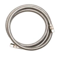 The Arrowhead Brass HS37C37C-20 braided stainless steel supply lines are 16-inches long and are compatible with a variety of piping.