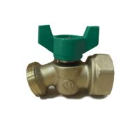 "The Arrowhead Brass NK50F-QT no kink hose bib is made from heavy patterned lead-free brass and has a ½"" female iron pipe (FIP) inlet."