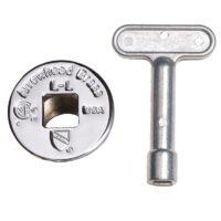 Arrowhead Brass PK1320 replacement log lighter key and chrome flange for Arrowhead Brass 258 and 259 log lighter kits.