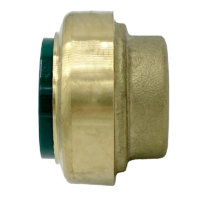 """Arrowhead Brass RGP100 push-fit plug adapters are lead-free and allow for ease of installation on copper, CPVC, and PEX within seconds. The RGP100 is 1""""."""