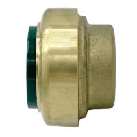 """Arrowhead Brass RGP75 push-fit plug adapters are lead-free and allow for ease of installation on copper, CPVC, and PEX within seconds. The RGP75 is ¾""""."""