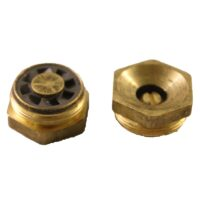 The Champion Irrigation S series brass sprinkler spray nozzles have an adjustable flow and radius for use on all brass and plastic sprinklers.