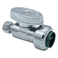 The Arrowhead Brass SS50R25C straight stop valves are lead-free and have a polished chrome finish.
