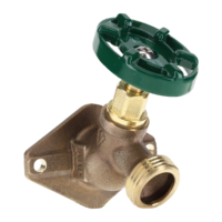 """The Arrowhead Brass 255XLF series has a 1/2"""" Female Iron Pipe Thread x 3/4"""" Male Hose Thread- XL Flange and are made of heavy-duty lead-free brass and feature an oversized 3-1/4"""" wide flange"""